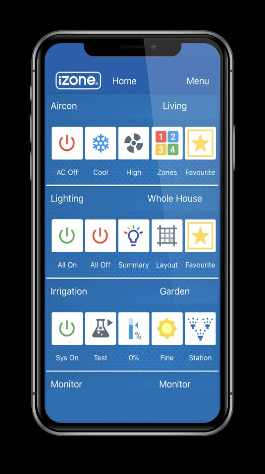 iZone smart home app